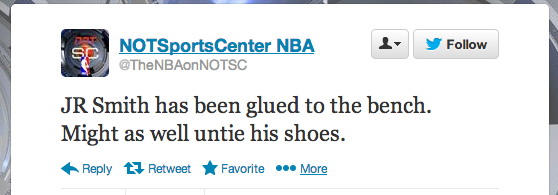 Not Sportscenter NBA Tweet