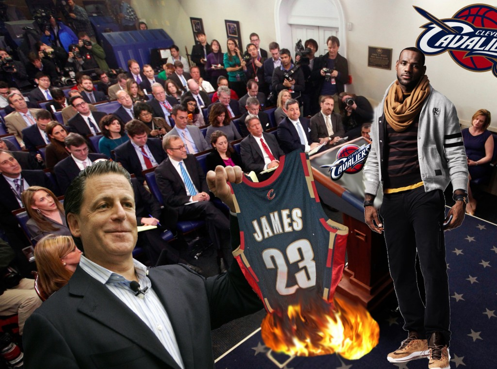 LeBron Gets New Cavs Jersey